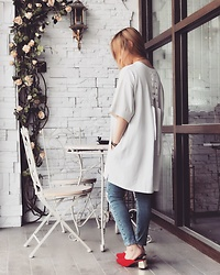 Minya L - Murua Lace Up Top, Murua Shoes, Topshop Jeans - A lace-up top is necessary