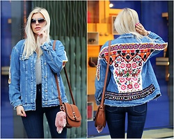 Estelle Fashion - Zara Denim Jacket, Zara Jeans Pants, New Look Bag - Boho denim jacket ZARA