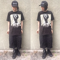 @KiD - Converge Tee, Code Wide Crust Short Pants, Kollaps Noise Music Cap, Puma × Mcq, Funk Plus Studs Bracelet - Japanese Trash153