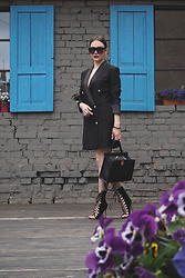 Anna Puzova - Zaful Blazer, Sammydress Heels, Sammydress Bag, Zaful Shades, Whistle + Bango Customized Bangles - BLAZER DRESS