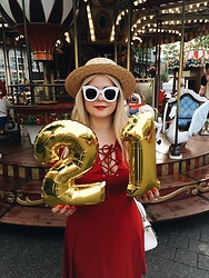 Vlada Bushueva - Asos Dress, Stradivarius Hat, Twinkledeals Glasses - Birthday girl