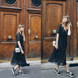 Marie Gm instagram @intoyourcloset -  - POLKA DOTS DRESS