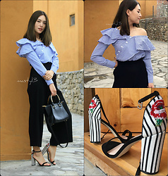 Chyuni Doll - Charleskeith Bag, Charleskeith Heel, Asymmetry Top - Frills asymmetry top