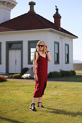 Anne Dofelmier - Zara Slip Dress - Plaid Slip Dress Does Summer