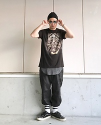 ★masaki★ - Zara Sunglasses, Converge Music Tee, H&M Layer, Rothco 6pocket Pants, Vans Marc Jacobs - Trash style 176