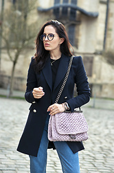 The Day Dreamings - Zara Blazer, One&Only Bag, Tijneyewear Glasses, H&M Jeans, Goldonimilano Bracelets - Modern elegance