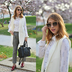 Monika Tremski - Romwe Vest, H&M Blouse, Romwe Pants, Marc By Jacobs Sunglasses - Business attire