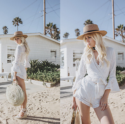 Sarah Loven - Spell Design Top, Spell Design Shorts, Before Anyone Else | Straw Bag, Lack Of Color Straw Hat - Mon Paradis