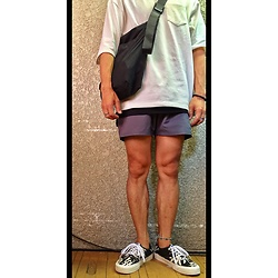 Keysyu Takagi - Coen Tops, Globalwork Bag, Saturdaysnyc Shorts, Vans Shoes - Outfit