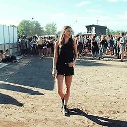 Emma -  - All black festival look