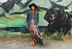 Anna Lengstrand - Romwe Dress, Gap Demin Jacket, Birkenstock Sandals - Summer ease.