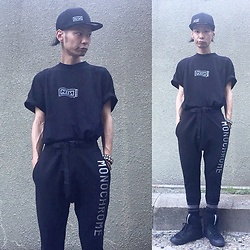 @KiD - Nine Inch Nails Nin Cap, Nine Inch Nails Nin Tee, Monochrome Sweat Pants, Funk Plus Studs Bracelet, Puma × Mcq - Japanese Trash160