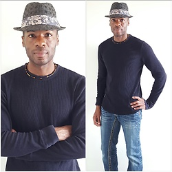 Thomas G - Panama Jack Fedora, Old Navy Long Sleeved Shirt, Bisou D'eve Denim Jeans, The Galactic Empire (Blog) - Panama Jack