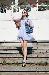 Mariia Shtanko - Zaful Mules, Zaful Dress, Parfois Bag - Riverside outfit