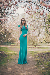Ashi Monster - Secondhand Maxi Teal Dress - Miss Spring