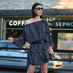 Minimalissmo .. - Zaful Dress, Zara Sunglasses, Rosegal Belt, Parfois Bag - Clubbing dress