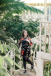 Tessa Holly - Boohoo Floral Mesh Dress - Florals in the Palm House