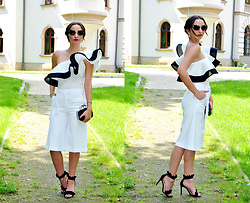 Natalia Uliasz - Rosegal Sunglasses, Rosegal Earrings, Rosgal One Shoulder Bodysuit, Mohito Culottes, Deezee.Pl Sandals - French elegance