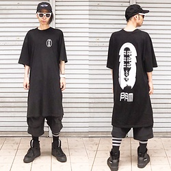 @KiD - (K)Ollaps Post Punk, P.A.M Long Tee, P.A.M Black Short Pants, Puma × Mcq, Funk Plus White Bracelet, American Apparel Line Socks - Japanese Trash164