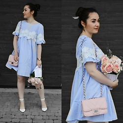Sispolitan Lach - Shein Dress, Zaful Bag, Stradivarius Heels, Fossil Watch - Blue Dress