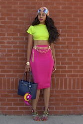 """Slim"" Shay D - Missoni Turban, Missguided Skirt - Colors And A Turban"