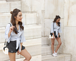 Besugarandspice FV - Shein Shirt, Converse Sneakers, Uterqüe Bag - A Relaxed Look For The Summer