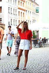 Ecaterina Rusu - H&M Blouse, H&M Skirt, Adidas Sliders - ABOUT TIME