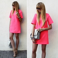Diane Fashion -  - NEON pink dress