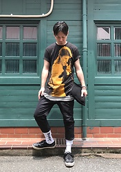 ★masaki★ - David Bowie, H&M Layer, Ch. Jogger, Kollaps 出火吐暴威(David Bowie), Vans Marc Jacobs (Oldskool) - Trash style 191