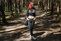 Karolina K - Blouse, Belt, Altercore Sneakers, Bag - Question of Lust