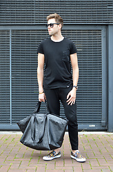 Jordi - Cheap Monday Cap Tee, A.P.C. Chester Bracelet, Cos Zip Trousers, Balenciaga Carry Bag, Kenzo Tiger Loafers - Carry