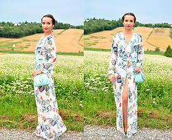Natalia Uliasz - Rosegal Floral Jumpsuit, Rosegal Bag - Dress and also jumpsuit