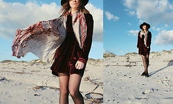 Lootsin Loots - Fraas Scarf, Zaful Dress, H&M Hat - Velvet