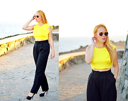 Nery Hdez - Gucci Sunglasses, Cndirect Crop Top - MIMOSA
