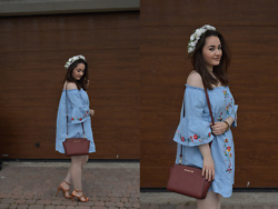 Sispolitan Lach - Shein Dress, Michael Kors Bag, Mango Shoes, Michael Kors Watch - Wianek