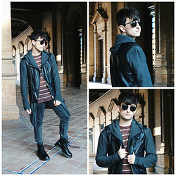 Carlos J - Zara Vest, Zara Sweater, Pull & Bear Jacket, Bershka Jeans, Dr. Martens Boots - COME AS YOU ARE.