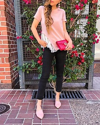 Sasa Zoe - On Sale For Less Than $50 Top, On Sale Jeans, Earrings, Slides, Bag - TUTU ON THE SIDE