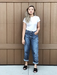 Haley D. - Uniqlo T, Guess Jeans, Asos Mules - Guess, it's a vibe.