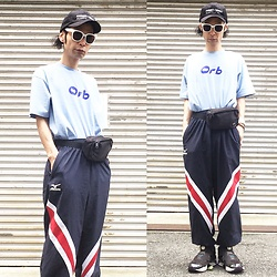 @KiD - (K)Ollaps Ambient Techno, The Orb Tee, Rvca Waist Bag, Mizuno Geek Jersey, Funk Plus White Bracelet, Reebok Pump Fury (X Girl) - Japanese Trash172
