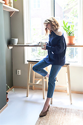 Christine R. - & Other Stories Sweater, Cos Jeans, & Other Stories Leopard Pumps - Kitchen