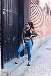 Bárbara Marques - Primark Shirt, Primark Crop Top, Zara Jeans, Primark Mules, Christian Dior Sunglasses - HIS KIND OF LOOK