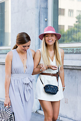 The Blonde Bliss - Zara Jumpsuit, Miu Bag, The Blonde Bliss Hat, More Details On - Pink tiara