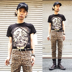 @KiD - (K)Ollaps Noise Music, Converge Tee, Cheap Monday Leopard Skinny, Funk Plus Studs Bracelet, Funk Plus Studs Belt, Converse Dark Brown Long All Star - Japanese Trash173