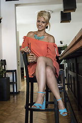 Beba Gottel - Zaful Off The Shoulder Dress, Amiclubwear Heels - Orange
