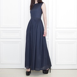 Otto Lillian -  - Dark Blue Long Dress