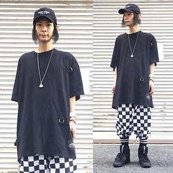 @KiD - (K)Ollaps Post Punk, Cheap Monday Oversized Shirts, Puma Mcq, Funk Plus White Bracelet - Japanese Trash174