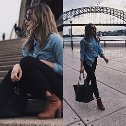 Shanice Espejo - Forever New Tote Bag, Betts Boots - Opera walk