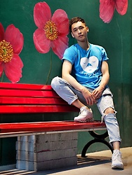 Chris Su - Uniqlo Tee, Zara Jeans, Rick Owens Sneakers - Happy And Tired