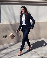 Jenelle Witty - Next Suit - Navy suit