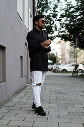 Ben Sammer -  - FASHION: Black & White Streetstyle Look
